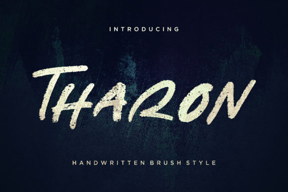 Print on Demand: Tharon Display Font By CreatypeStudio