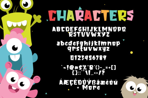 The Baby Monster Font By Khurasan Image 6