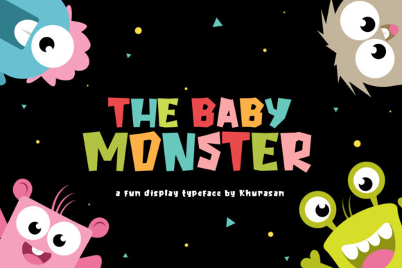 The Baby Monster Font By Khurasan Image 1