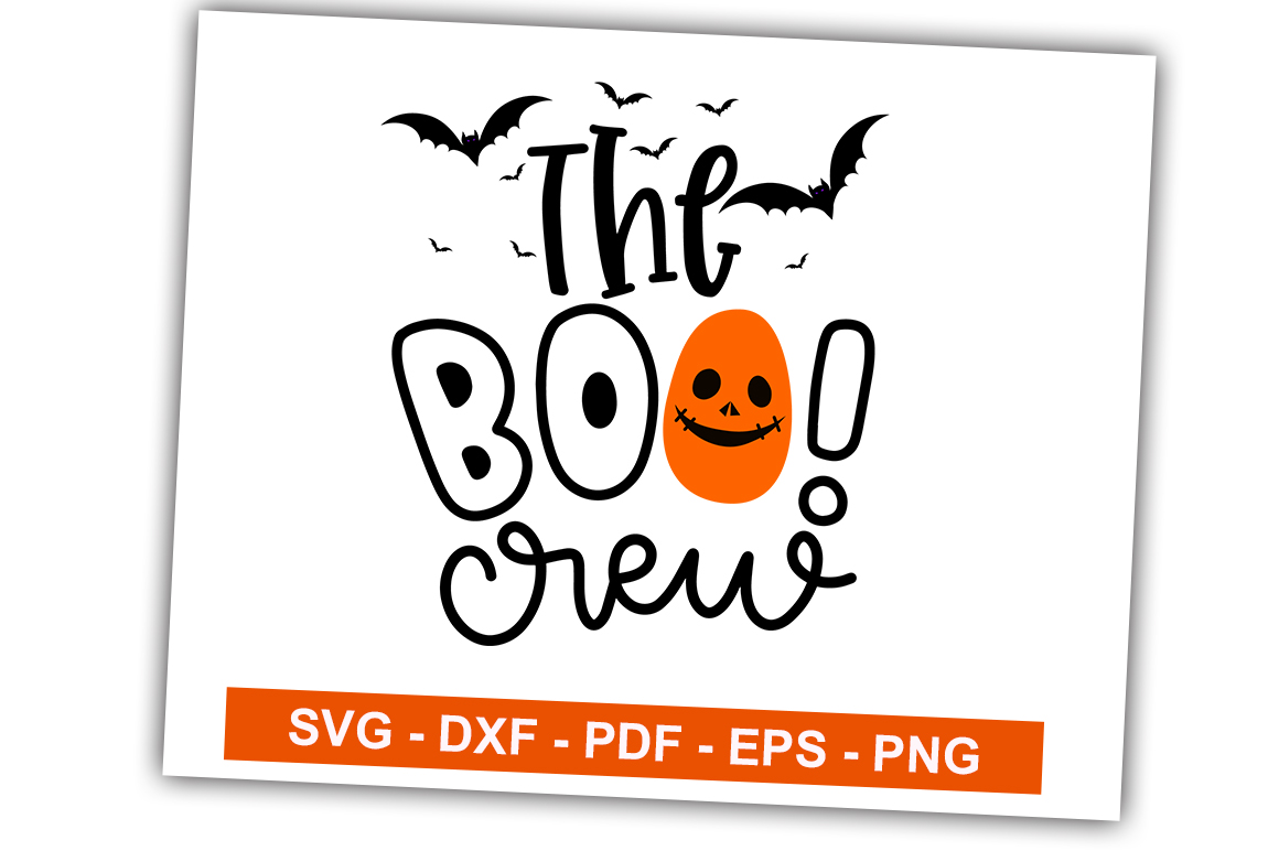 Download Free The Boo Crew Graphic By Svgbundle Net Creative Fabrica for Cricut Explore, Silhouette and other cutting machines.