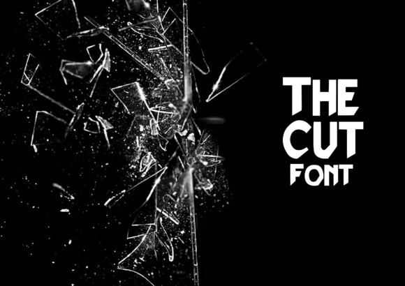 Print on Demand: The Cut Display Font By CuriousxxGraphics