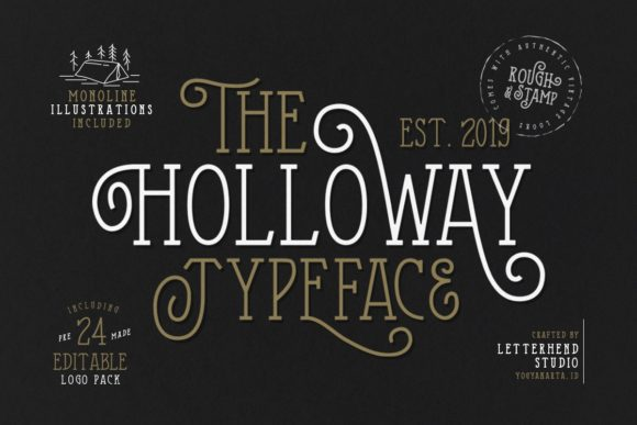 Print on Demand: The Holloway Display Font By letterhend - Image 2
