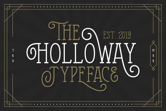 Print on Demand: The Holloway Display Font By letterhend