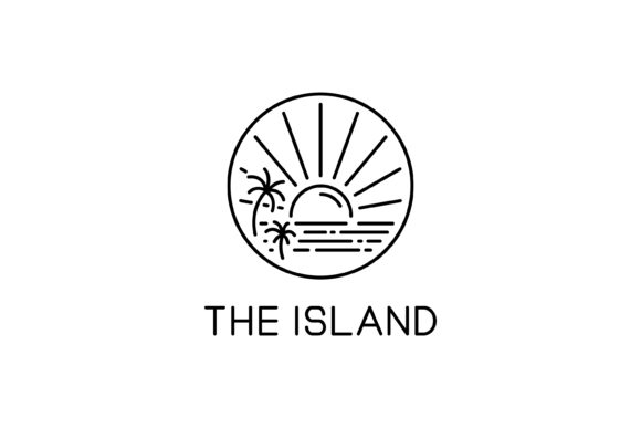 Download Free The Island Line Art Logo Graphic By Sabavector Creative Fabrica for Cricut Explore, Silhouette and other cutting machines.