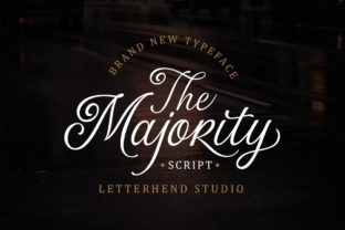 Print on Demand: The Majority Script & Handwritten Font By letterhend