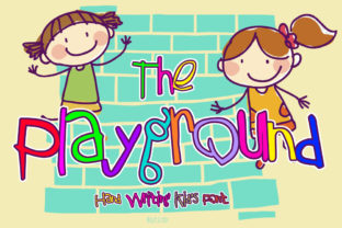 The Playground Font By fluffyartstudio