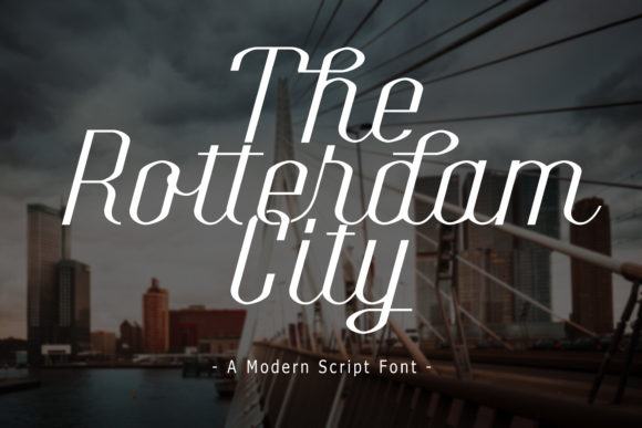 Print on Demand: The Rotterdam City Script & Handwritten Font By Doehantz Studio