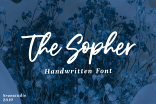 The Sopher Font By Sronstudio