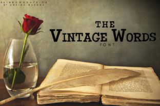 The Vintage Words Font By RainbowGraphicx