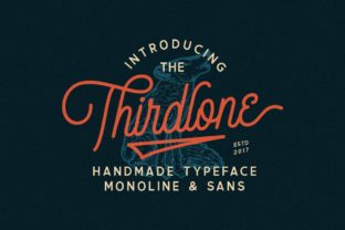 Print on Demand: Thirdlone Family Display Font By letterhend