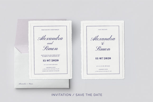 Print on Demand: This is an Invitation Wedding Template Suite. Graphic Print Templates By Primafox Design - Image 3