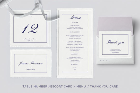 Print on Demand: This is an Invitation Wedding Template Suite. Graphic Print Templates By Primafox Design - Image 4