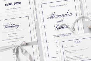 This is an Invitation Wedding Template Suite. Graphic By Primafox Design