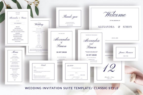 Print on Demand: This is an Invitation Wedding Template Suite. Graphic Print Templates By Primafox Design - Image 5