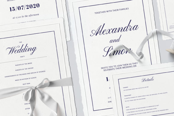 Print on Demand: This is an Invitation Wedding Template Suite. Grafik Druck-Templates von Primafox Design