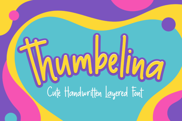 Print on Demand: Thumbelina Script & Handwritten Font By herbanuts