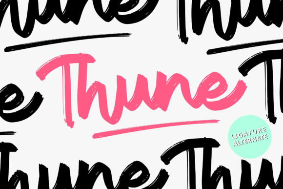 Print on Demand: Thune Script & Handwritten Font By Vunira
