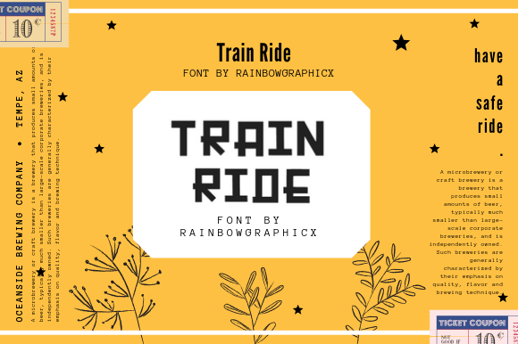 Print on Demand: Train Ride Blackletter Fuente Por RainbowGraphicx