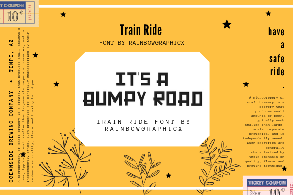 Train Ride Font By RainbowGraphicx  Image 2