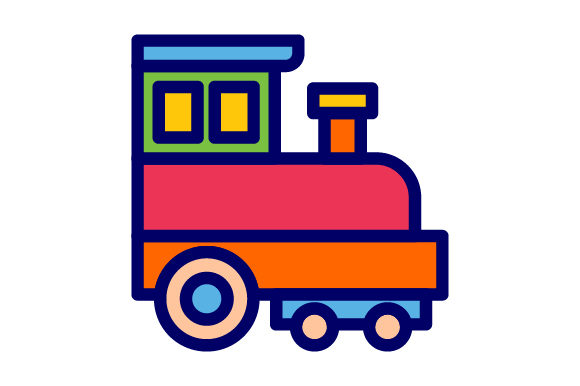 Download Free Train Toys Filled Line Icon Logo Design Graphic By Graphicrun123 for Cricut Explore, Silhouette and other cutting machines.
