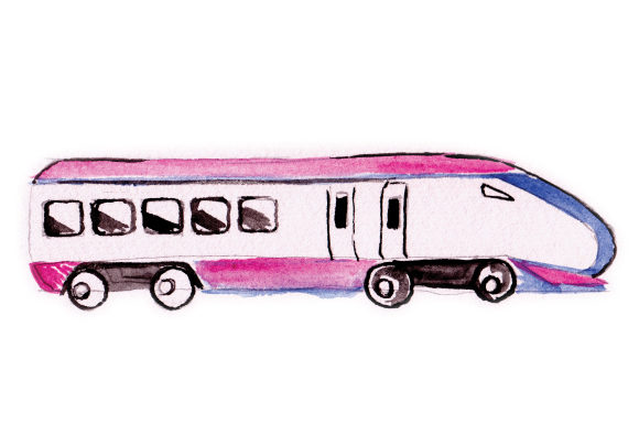 Download Free Train In Watercolor Svg Cut File By Creative Fabrica Crafts for Cricut Explore, Silhouette and other cutting machines.