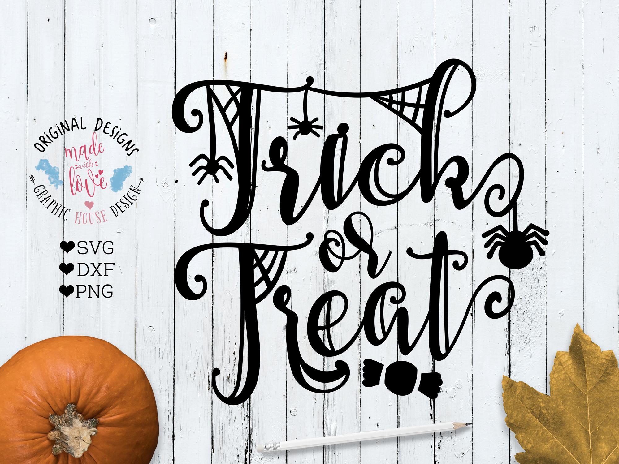 Trick Or Treat Halloween Cut File Graphic By Graphichousedesign