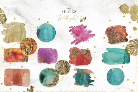 Tropical Watercolor Set Graphic Backgrounds By NassyArt - Image 11
