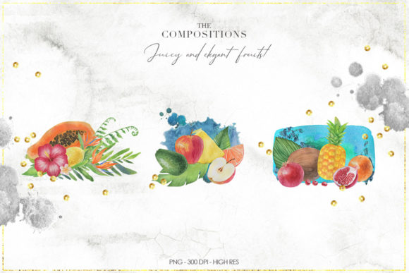 Tropical Watercolor Set Graphic Backgrounds By NassyArt - Image 3