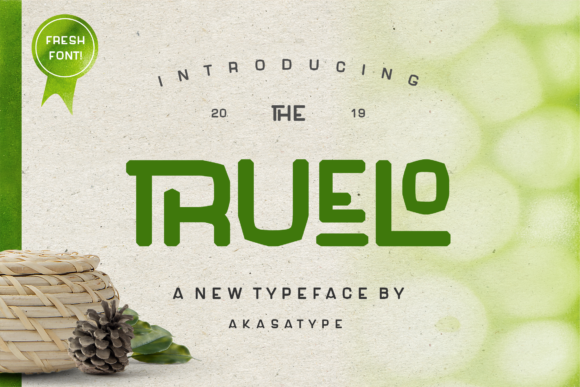 Print on Demand: Truelo Display Font By Akasatype - Image 1