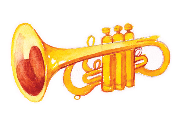 Trumpet Music Craft Cut File By Creative Fabrica Crafts - Image 1