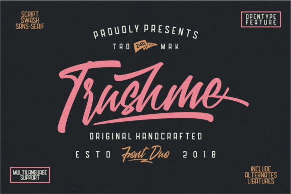 Download Free Trushme Font By 24design Studios Creative Fabrica for Cricut Explore, Silhouette and other cutting machines.