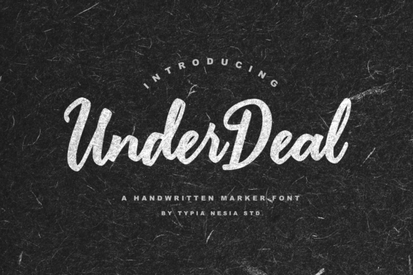 Print on Demand: Under Deal Script & Handwritten Font By Typia Nesia
