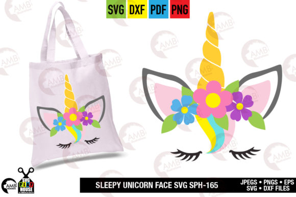 Unicorn Face Graphic Crafts By AMBillustrations - Image 2