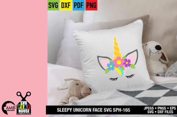Unicorn Face Graphic Crafts By AMBillustrations - Image 3