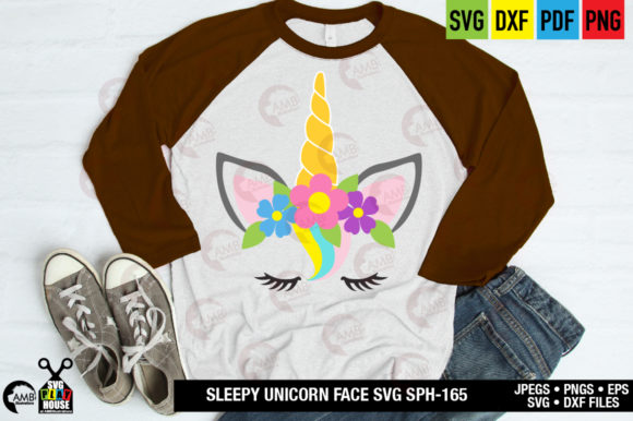 Unicorn Face Graphic Crafts By AMBillustrations - Image 5