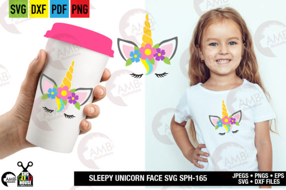 Unicorn Face Graphic Crafts By AMBillustrations - Image 1