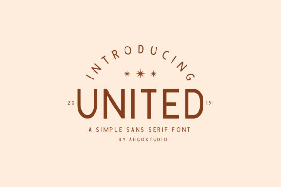 Print on Demand: United Sans Serif Font By Ahgo Studio - Image 1