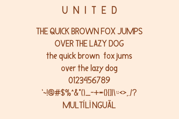 Print on Demand: United Sans Serif Font By Ahgo Studio - Image 7