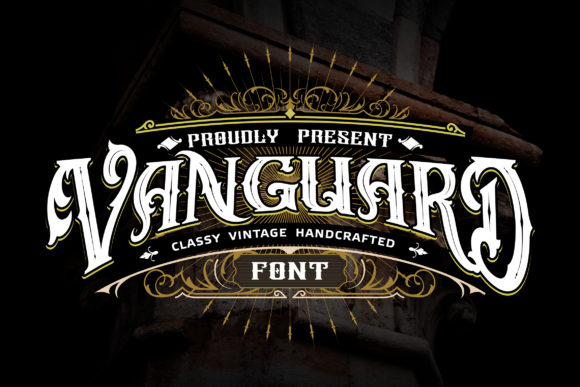 Print on Demand: Vanguard Decorative Font By Vunira
