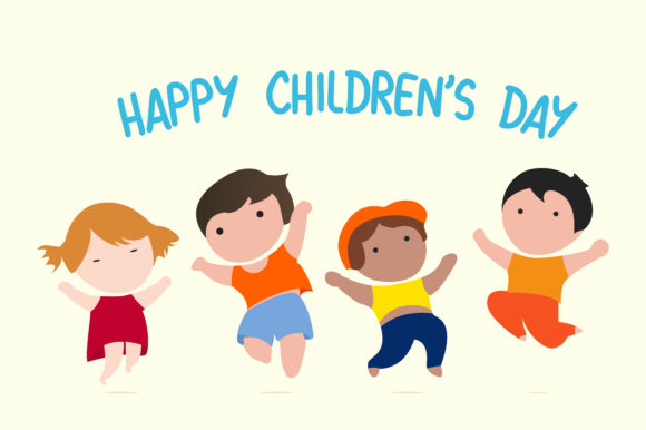 Download Free Vector Happy International Kids Graphic By Qasas77 Creative for Cricut Explore, Silhouette and other cutting machines.