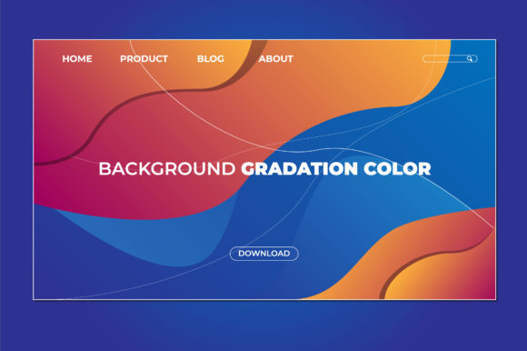 Vector Background Gradation Color Graphic UX and UI Kits By Qasas77