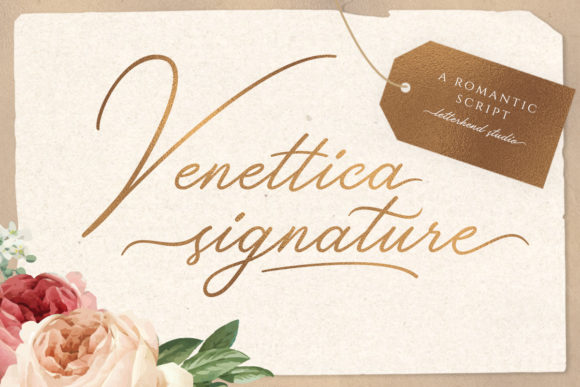 Print on Demand: Venettica Signature Romantic Script Script & Handwritten Font By letterhend