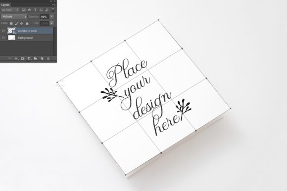 Vertical Square Greeting Psd Card Mockup Graphic Download