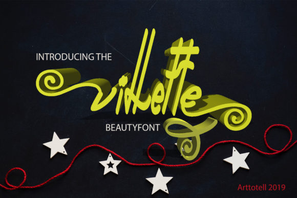 Print on Demand: Villette Script & Handwritten Font By arttotell - Image 1