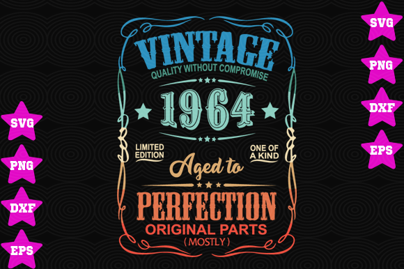 Download Free Vintage 1964 Grafico Por Awesomedesign Creative Fabrica for Cricut Explore, Silhouette and other cutting machines.