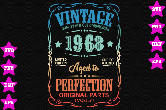 Vintage 1968 Aged To Perfection Graphic By Awesomedesign