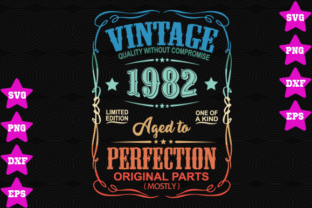 Vintage 1982 Aged To Perfection Graphic By Awesomedesign