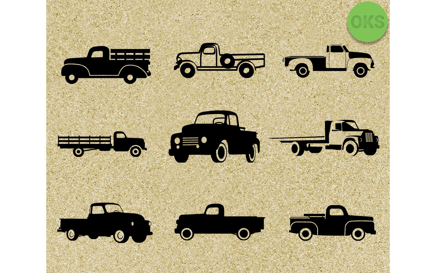Download Free Vintage Farm Pickup Truck Svg Bundle Graphic By Crafteroks for Cricut Explore, Silhouette and other cutting machines.