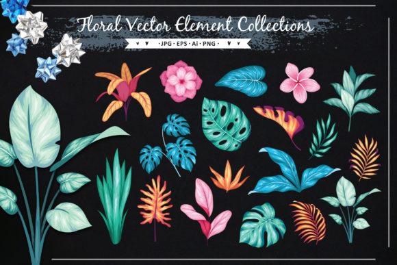 Vintage Floral Hand Drawn Collection Graphic Crafts By AllmoStudio