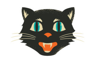 Vintage Halloween Cat Halloween Craft Cut File By Creative Fabrica Crafts